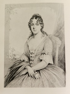 Portrait of Martha Jefferson Randolph, from The Dresses of the First ladies of the White House, by Margaret W. Brown. Smithsonian Institution, 1952.