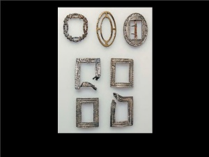 shoe buckles from the wreck of the General Carleton 1785 Polish Maritime Museum
