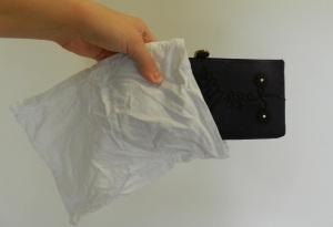 A tiny cotton sleeping bag.