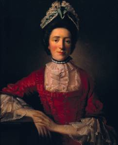 Miss Ramsay in a Red Dress circa 1760-65 by Allan Ramsay 1713-1784