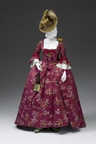 Robe a la Francaise, 1770-80, The Mint Museum.